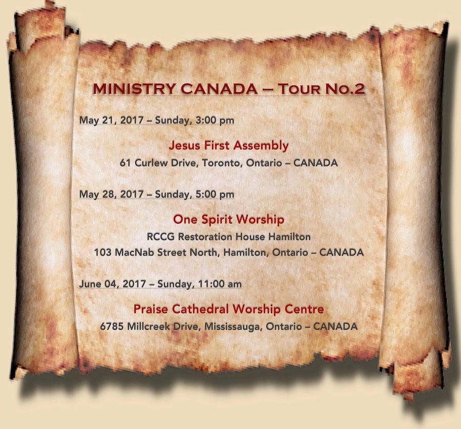 Ministry Canada - May & June 2017